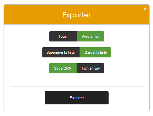 exporter vos leads B2B
