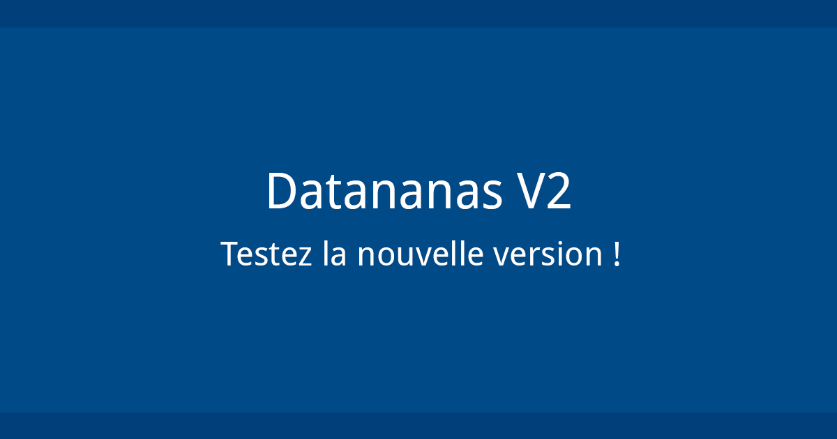 Datananas nouvelle version